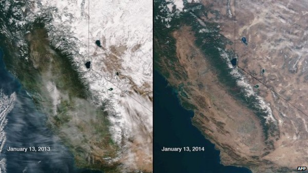 satellite image compares the snow and water cover of January 2013 and January 2014.jpg